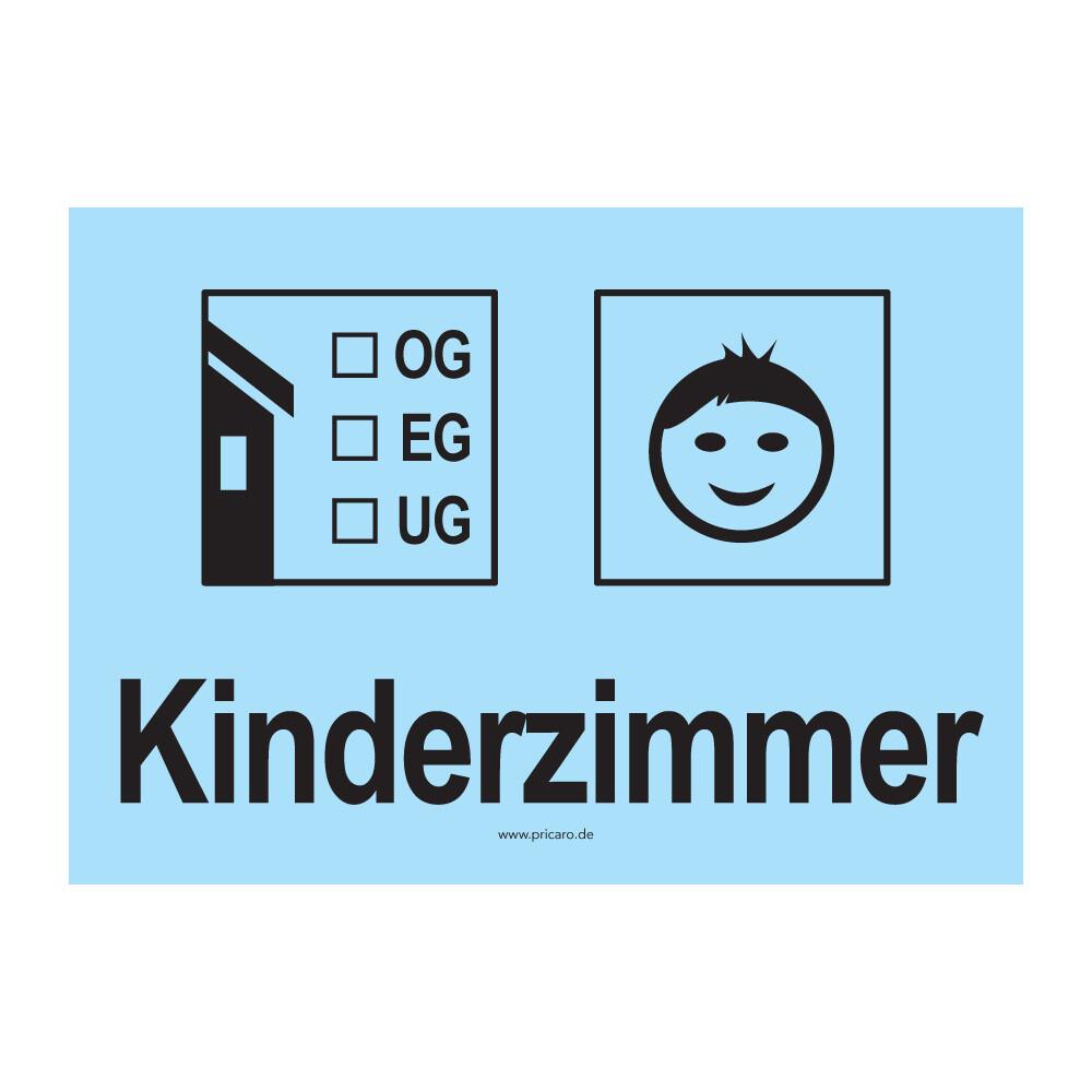 Pricaro umzugsaufkleber kinderzimmer 1 hellblau a6 15 s for Kinderzimmer im keller