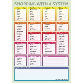 PRICARO Shopping List System, colorful, A5, Set of 3